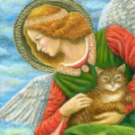 Как Ангел нашу кошку перевоспитывал. Часть 4